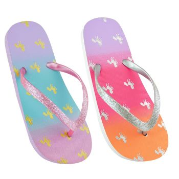 FT1710, Girls Ombre Unicorn Print Flip Flop £1.40.  pk20...