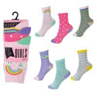SK720, Girls 3 Pack Rainbow Design Socks £0.85.   12pks..
