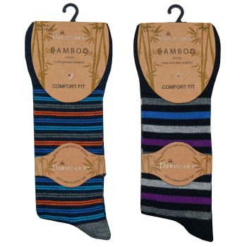 40B540, Mens Bamboo Non Elastic Design Socks £8.95 a dozen.   18 dozen...