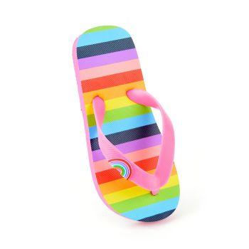 FT1861, Girls Rainbow Print Flip Flop £1.50.  pk20...