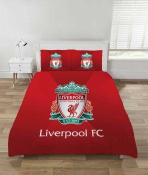 "*V2086, Official ""Liverpool FC"" Reversible Double Duvet Cover Set £17.95. pk3..."