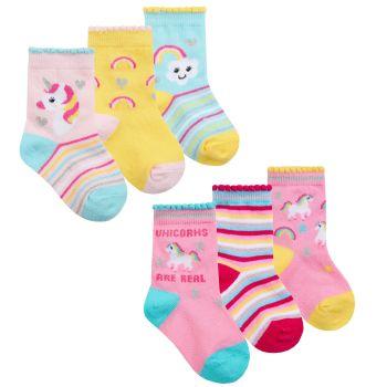44B919, Baby Girls 3 in a pack Cotton Rich Design Socks £1.20.   12pks...