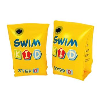 Code:846091, Inflatable Arm Bands Yellow With Writing £1.10.  pk12...