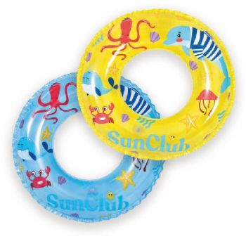 Code:837626, Inflatable Sea Life Design Swim Ring 20 Inch £0.75.  pk12...