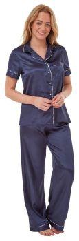 "*IN29034, ""Indigo Sky"" Ladies Satin Pyjama- Navy..."