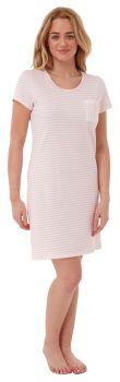 """*IN28193, """"Indigo Sky"""" Ladies Jersey Striped Nightshirt - Pink...."""