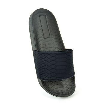 FT1900, Ladies Snake Effect Slider - Black £3.65.   pk36...