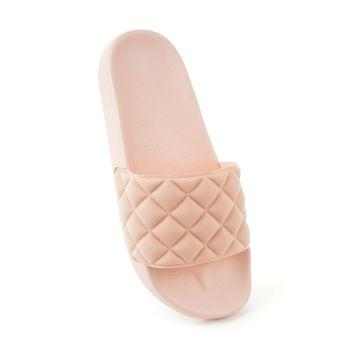 FT1903, Ladies Quilt Effect Slider - Pink £3.65.   pk36...