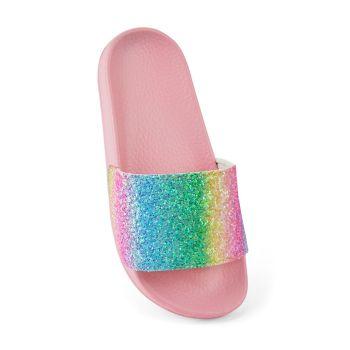 FT1907, Girls Rainbow Glitter Slider - Pink £3.25.  pk36...