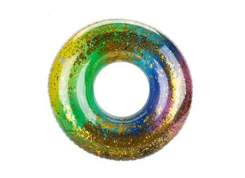 "Code:071024,  20"" Glitter Filled Rainbow Swim Ring By Wet 'N' Wild £1.65.  pk12..."