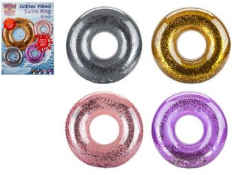 "Code:071027,  20"" Glitter Filled Swim Ring By Wet 'N' Wild £1.65.  pk12..."
