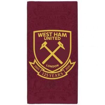 """*V8602, Official """"West Ham United"""" Beach Towel £5.50.   pk6...."""