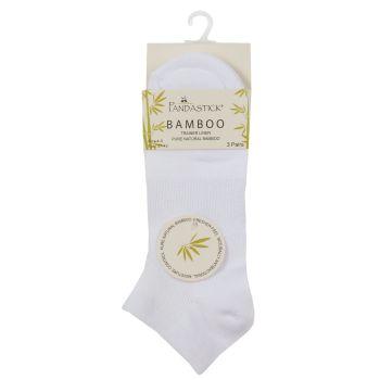 41B524, Ladies 3 Pack Bamboo Trainer Liner Socks - White £1.40.   12pks...