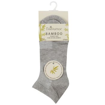 41B525, Ladies 3 Pack Bamboo Trainer Liner Socks - Grey Marl £1.40.   12pks...