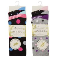 41B543, Ladies 3 Pack Bamboo Spot Design Socks £1.95.   12pks...