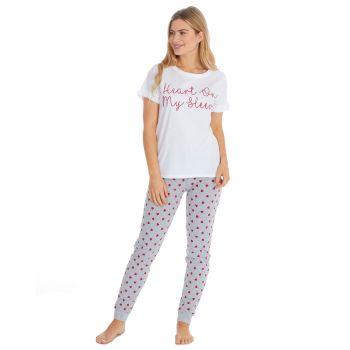 "*34B1644, ""Forever Dreaming"" Brand Ladies ""Heart On My Sleeve"" Design Pyjama £7.95.  pk6..."