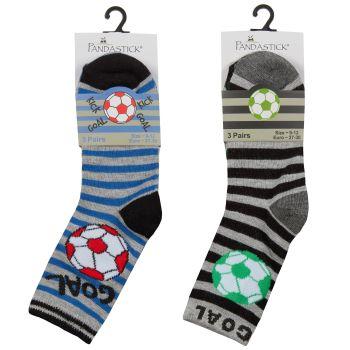 42B708, Boys 3 Pack Bamboo Football Design Socks £1.50.  12pks...