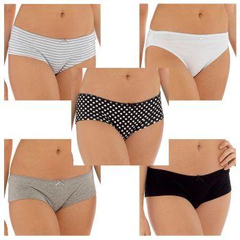 *BR371, Ladies 5 Pack Shorts £3.85.  12pks....