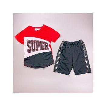 *CR118RB, Boys T shirt & Short Set With Detail As Shown £4.75.  pk6...
