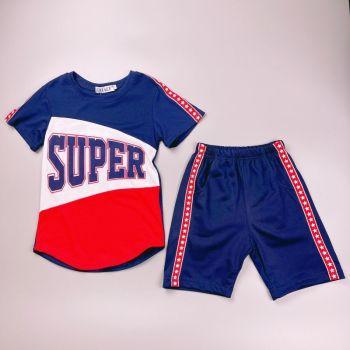 *CR118RBL, Boys T shirt & Short Set With Detail As Shown £4.75.  pk6...