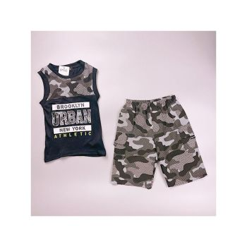 *C10BLACK, Boys Vest Top & Short Set With Detail As Shown £4.75.  pk7...