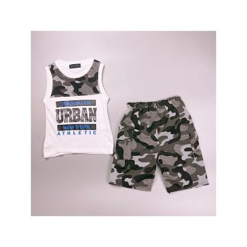 *C10WHITE, Boys Vest Top & Short Set With Detail As Shown £4.75.  pk7...