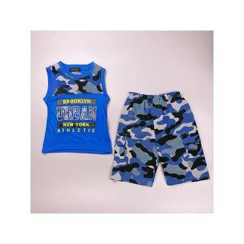 *C10BLUE, Boys Vest Top & Short Set With Detail As Shown £4.75.  pk7...