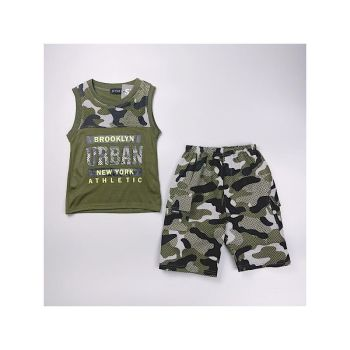 *C10KHAKI, Boys Vest Top & Short Set With Detail As Shown £4.75.  pk7...