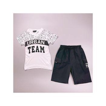 *C08WHITE, Boys T shirt & Short Set with Detail as Shown £4.75.  pk7...