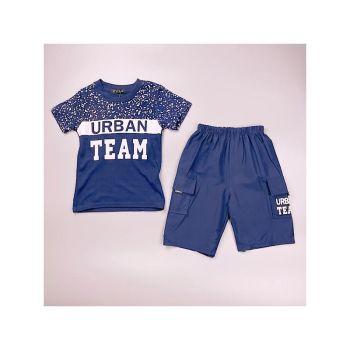 *C08NAVY, Boys T Shirt & Short Set With Detail As Shown £4.75.  pk7...