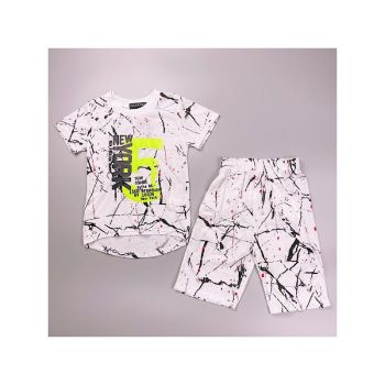 *B362WHITE, Boys T Shirt & Short Set With Detail As Shown £4.75.  pk7...