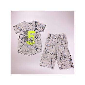 *B362GREY, Boys T Shirt & Short Set With Detail As Shown £4.75.  pk7...