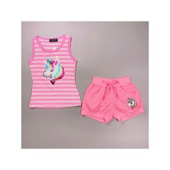 *S930L/PINK, Girls Unicorn Vest Top & Hot Pant Set £4.95.   pk6....
