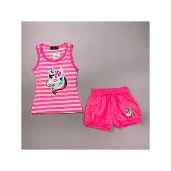 *S930D/PINK, Girls Unicorn Vest Top & Hot Pant Set £4.95.   pk6....