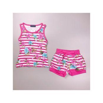 *S932D/PINK, Girls Floral Tank Top & Hot Pant Set £4.95.   pk6...