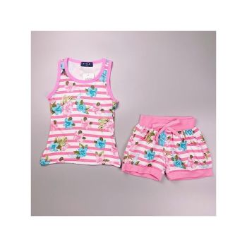 *S932L/PINK, Girls Floral Tank Top & Hot Pant Set £4.95.   pk6...