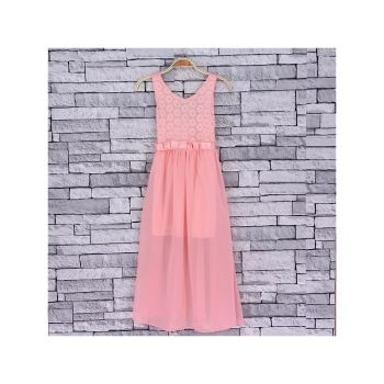 *Code:756L/PINK, Girls Maxi Dress With Detail As Shown £6.95.  pk5...