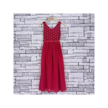 *Code:756D/PINK, Girls Maxi Dress With Detail As Shown £6.95.  pk5....