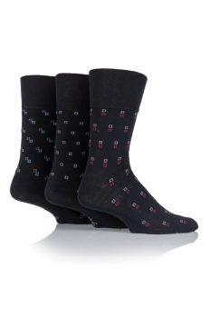 """SOMRJ46, Mens """"Gentle Grip"""" design socks.  1 dozen.."""