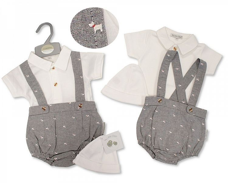 BIS2384, Baby Boys 2 Pieces Set with Hat - Dog £5.95.  PK6...