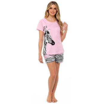 *LN1310, Ladies Zebra Print Top & Short Pyjama Set £6.65.  pk12...