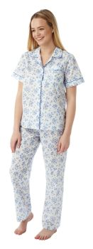 "MN14, ""Marlon"" brand ladies short sleeve/long pant poly/cotton pyjama £7.30.  pk2..."