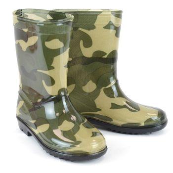 FT1718, Kids Camo Wellington Boots £5.50.  pk18....