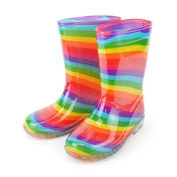 FT1919, Kids Rainbow Wellington Boots £5.35.  pk18....