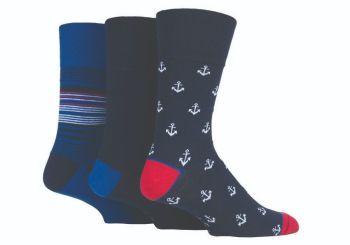 """SOMRJ549, Mens """"Gentle Grip"""" design socks.  1 dozen.."""