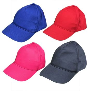 Code:56137, Kids 5 Panel Baseball Cap £0.85.   pk24....