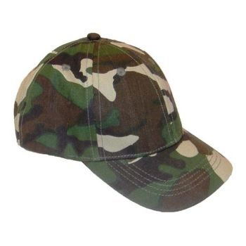 Code:56135, Kids Baseball Camouflage Cap £0.85.   pk24....
