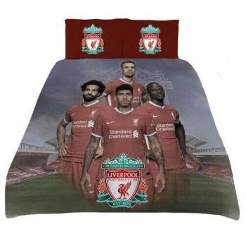 "***V2619, Official ""Liverpool FC"" Players Reversible Double Duvet Cover Set £17.50.  pk6..."