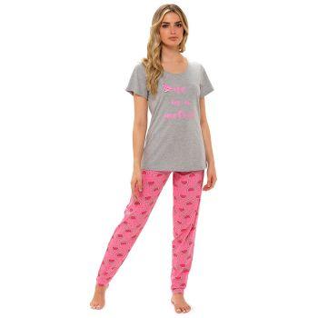 *LN1324, Ladies Jersey Melon Print Top & Leggings Pyjama Set £7.80.  pk6..