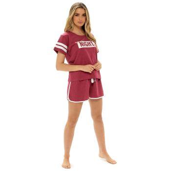 "*LN1333, Ladies Jersey Marl ""Night"" Varsity Pyjama Shorts Set £6.05.  pk12..."